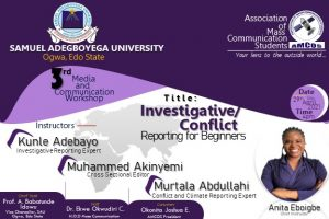Read more about the article SAMUEL ADEGBOYEGA UNIVERSITY HOLDS 3RD MEDIA AND COMMUNICATION WORKSHOP